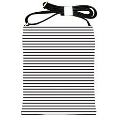 Basic Horizontal Stripes Shoulder Sling Bags by jumpercat