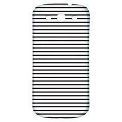 Basic Horizontal Stripes Samsung Galaxy S3 S Iii Classic Hardshell Back Case by jumpercat