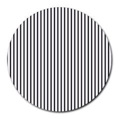 Basic Vertical Stripes Round Mousepads by jumpercat