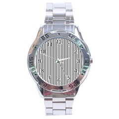Basic Vertical Stripes Stainless Steel Analogue Watch by jumpercat