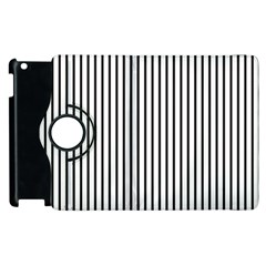 Basic Vertical Stripes Apple Ipad 3/4 Flip 360 Case by jumpercat