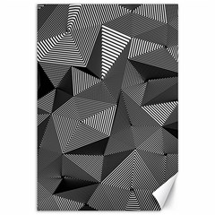 Geometric Doodle Canvas 12  X 18   by jumpercat