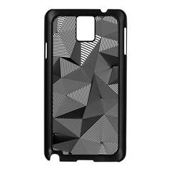 Geometric Doodle Samsung Galaxy Note 3 N9005 Case (black) by jumpercat