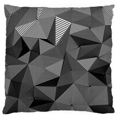 Geometric Doodle Large Flano Cushion Case (two Sides) by jumpercat