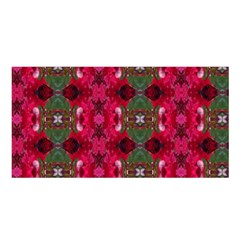 Christmas Colors Wrapping Paper Design Satin Shawl by Fractalsandkaleidoscopes