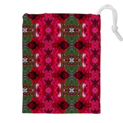 Christmas Colors Wrapping Paper Design Drawstring Pouches (xxl) by Fractalsandkaleidoscopes