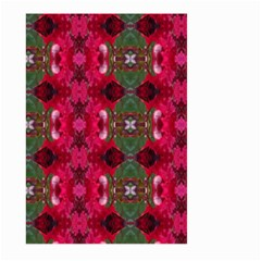 Christmas Colors Wrapping Paper Design Large Garden Flag (two Sides) by Fractalsandkaleidoscopes