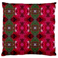 Christmas Colors Wrapping Paper Design Large Cushion Case (two Sides) by Fractalsandkaleidoscopes