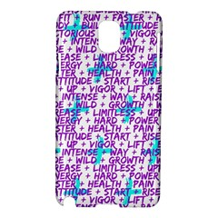 Hard Workout Samsung Galaxy Note 3 N9005 Hardshell Case by jumpercat