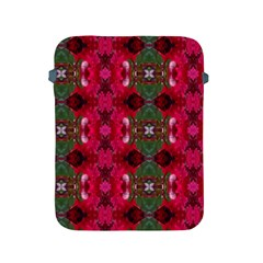 Christmas Colors Wrapping Paper Design Apple Ipad 2/3/4 Protective Soft Cases by Fractalsandkaleidoscopes