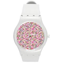Gardenia Sweet Round Plastic Sport Watch (m) by jumpercat