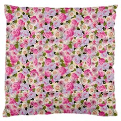 Gardenia Sweet Large Flano Cushion Case (one Side) by jumpercat