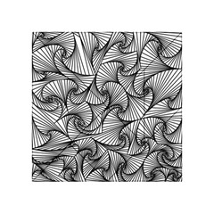 Fractal Sketch Light Acrylic Tangram Puzzle (4  X 4 ) by jumpercat