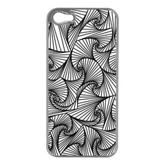Fractal Sketch Light Apple Iphone 5 Case (silver) by jumpercat