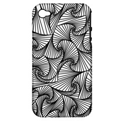 Fractal Sketch Light Apple Iphone 4/4s Hardshell Case (pc+silicone) by jumpercat