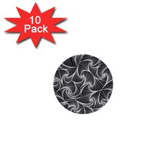 Fractal Sketch Dark 1  Mini Buttons (10 Pack)  by jumpercat