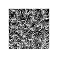 Fractal Sketch Dark Acrylic Tangram Puzzle (4  X 4 ) by jumpercat