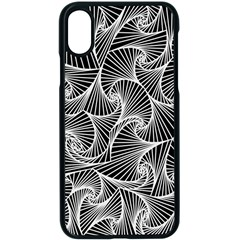 Fractal Sketch Dark Apple Iphone X Seamless Case (black)