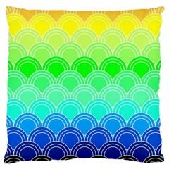 Art Deco Rain Bow Large Cushion Case (one Side) by 8fugoso