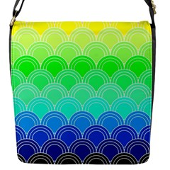 Art Deco Rain Bow Flap Messenger Bag (s)