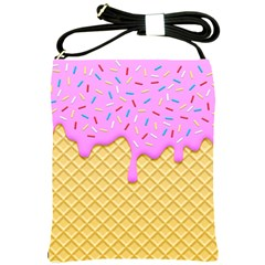 Strawberry Ice Cream Shoulder Sling Bags by jumpercat