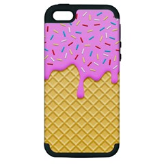 Strawberry Ice Cream Apple Iphone 5 Hardshell Case (pc+silicone) by jumpercat