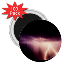 Storm Weather Lightning Bolt 2 25  Magnets (100 Pack)