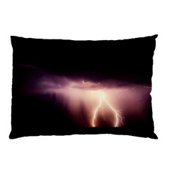 Storm Weather Lightning Bolt Pillow Case by BangZart