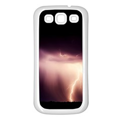 Storm Weather Lightning Bolt Samsung Galaxy S3 Back Case (white)