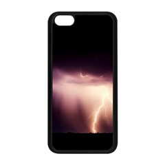 Storm Weather Lightning Bolt Apple Iphone 5c Seamless Case (black) by BangZart