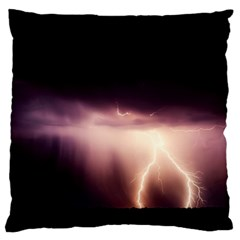 Storm Weather Lightning Bolt Standard Flano Cushion Case (two Sides)