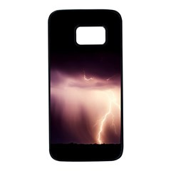 Storm Weather Lightning Bolt Samsung Galaxy S7 Black Seamless Case