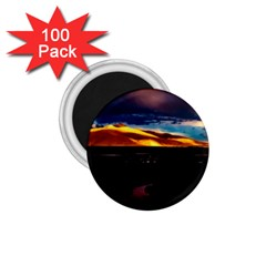 India Sunset Sky Clouds Mountains 1 75  Magnets (100 Pack)