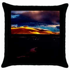 India Sunset Sky Clouds Mountains Throw Pillow Case (black) by BangZart