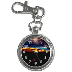 India Sunset Sky Clouds Mountains Key Chain Watches by BangZart