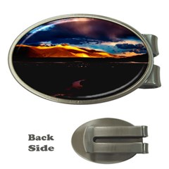 India Sunset Sky Clouds Mountains Money Clips (oval)