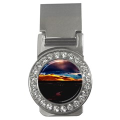 India Sunset Sky Clouds Mountains Money Clips (cz)