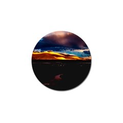 India Sunset Sky Clouds Mountains Golf Ball Marker (4 Pack)