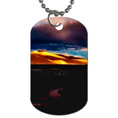 India Sunset Sky Clouds Mountains Dog Tag (two Sides) by BangZart