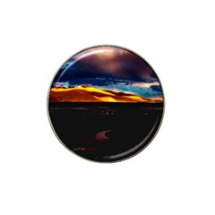 India Sunset Sky Clouds Mountains Hat Clip Ball Marker