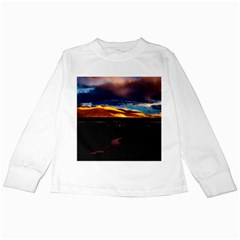 India Sunset Sky Clouds Mountains Kids Long Sleeve T Shirts