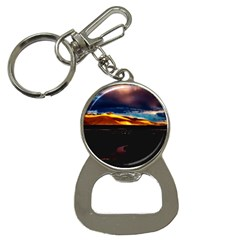 India Sunset Sky Clouds Mountains Button Necklaces