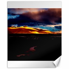 India Sunset Sky Clouds Mountains Canvas 11  X 14