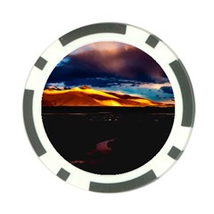 India Sunset Sky Clouds Mountains Poker Chip Card Guard (10 Pack)