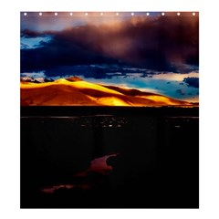 India Sunset Sky Clouds Mountains Shower Curtain 66  X 72  (large)