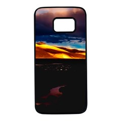 India Sunset Sky Clouds Mountains Samsung Galaxy S7 Black Seamless Case
