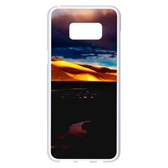 India Sunset Sky Clouds Mountains Samsung Galaxy S8 Plus White Seamless Case