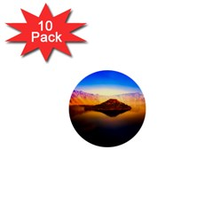 Crater Lake Oregon Mountains 1  Mini Buttons (10 Pack)