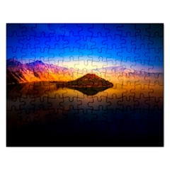 Crater Lake Oregon Mountains Rectangular Jigsaw Puzzl by BangZart