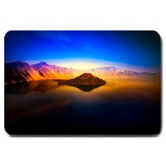 Crater Lake Oregon Mountains Large Doormat